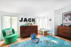 Cool Kids Only, Part 2: Interior Design Inspiration for Kid's. His parents wanted to update his space in a way that reflects his new status as a non-baby.