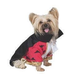 "Deluxe Vampire Dog Costume - Includes: Costume. Small (10""-14"")."