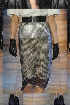 Chainmail skirt from YSL