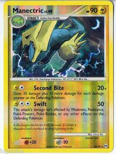 Pokemon Card Arceus Reverse Holo Rare Manectric 22/99 - FREE combined shipping