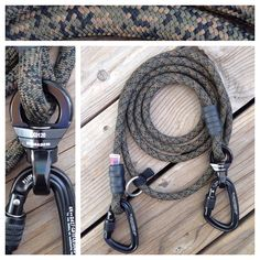 Jaeger Handsfree Rope Dog Leash with Carabiner and Swivel Option. Used for Hiking or Jogging with Big Dogs.