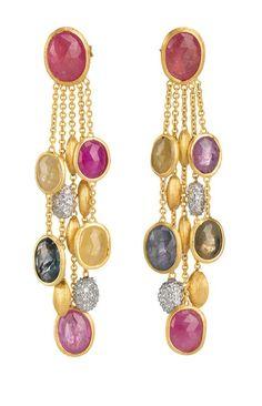 Coloured sapphire earrings, Marco Bicego: High Earrings, Bicego Earrings, Eclectic Earrings,