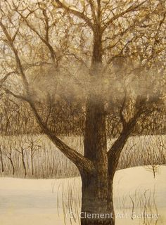 Tom Clement - Winter Winds - Watercolor