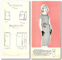 View album on Yandex. 60s Patterns, Felt Patterns, Dress Sewing Patterns, Vintage Sewing Patterns, Clothing Patterns, Skirt Patterns, Blouse Patterns, Couture Vintage, Make Your Own Clothes