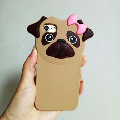 Cute Pug Soft Back Cover iPhone 6 6s Case