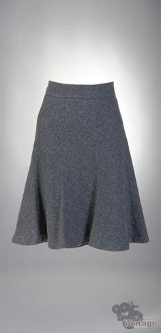 Vintage wool midi skirt