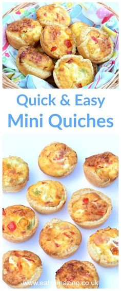 Super quick and easy mini quiches recipe - fun cooking project for kids - great for lunch boxes and picnics - Eats Amazing UK