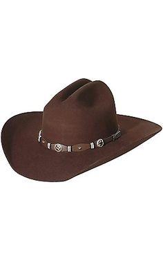 b83d90d73a1 Cavender s 3X Oplin Chocolate Felt Cowboy Hat Felt Cowboy Hats