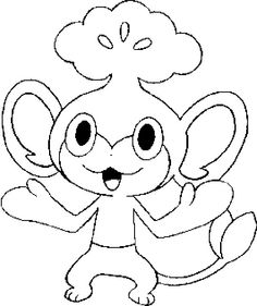 Coloring Pages Pokemon - Pansage - Drawings Pokemon Free Adult Coloring Pages, Coloring Pages To Print, Coloring Book Pages, Printable Coloring Pages, Coloring Pages For Kids, Kids Coloring, Pokemon Coloring Sheets, Pikachu Coloring Page, Pencil Drawings