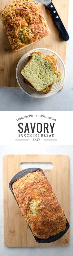 This savory zucchini bread with cheddar, parmesan, shallots and plenty of herbs is easy to make and satisfying to eat. Adapted from Joy of Cooking.