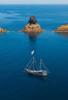 Illes Columbretes, Castellón, Spain.