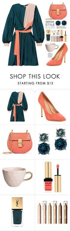 """""""Color block by Sasoza"""" by sasooza ❤ liked on Polyvore featuring Roksanda, Pour La Victoire, Chloé, Anne Klein, Urban Nature Culture and Yves Saint Laurent"""