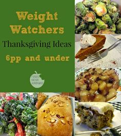 Recipes for a skinny holiday! #thanksgiving #ww #points