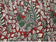 Kalamkari impresión de bloque de la India por Indianlacesandfabric