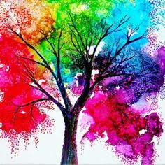 Fabulous tree made from melting crayons