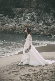 claudia llagostera vestidos novia boho wedding dress bohemio blog bodas original ideas encaje manga larga 10