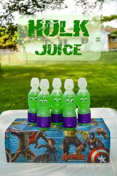 Easy tutorial showing you how to make Hulk juice for an Avengers party