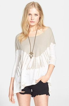 Women's Free People 'Coastal' Tie Dye Tee