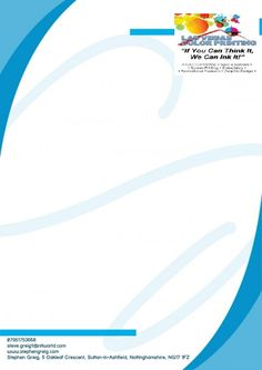 Letterhead is the foundation of your professional business identity. Print letterhead on your choice.