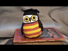 Ballagó bagoly Harry Potter jelmezben -horgolt lépésről lépésre - YouTube Harry Potter, Owl, Crochet Hats, Beanie, Youtube, Amigurumi, Knitting Hats, Owls, Beanies