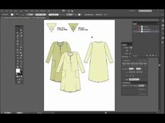 Video Week 2 – 52 weeks Adobe Illustrator for fashion design series – Dress fashion flat sketch tiny triangles details | Convenient online learning since est. 2005