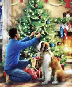 Christmas Paintings On Canvas, Christmas Artwork, Jewelry Christmas Tree, Christmas Drawing, Christmas Wallpaper, Christmas Scenes, Noel Christmas, Christmas Animals, Vintage Christmas Cards