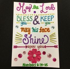 Heather's Divine Designs Sharing God's Word Through Art Numbers 6:24-25 Custom Made Scripture Note Cards  www.heathersdivinedesigns.com