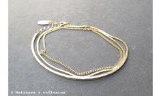 Stalactite Bracelet Trois tours vermeil #stalactite #stalactiteparis #jewelry #vermeil #bijoux