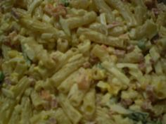 Macaroni Salad...contains ham cubes which you can leave out!