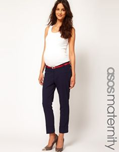 ASOS Maternity Pant With Belt