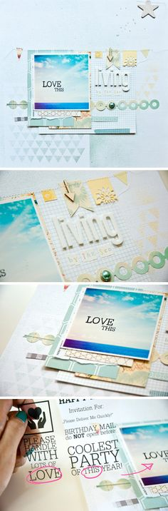 #papercraft #scrapbook #layout. lillith E.