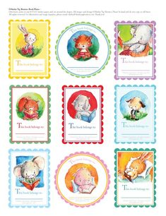 Shirley's Illustrations: Book Plates for back-to-school! ~free!~ printable download...