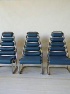 Three vintage 1970s 70s Space Age lounge chairs