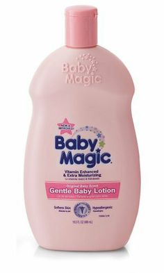 Baby Magic Gentle Baby Lotion, Original Baby Scent, 16.5-Ounce Bottles (Pack of 6) by Baby Magic, http://www.amazon.com/dp/B001W6QB7C/ref=cm_sw_r_pi_dp_2Aygqb1MV4VXQ