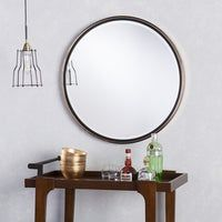 Furniture of America Revo Industrial Distressed Wall Mirror