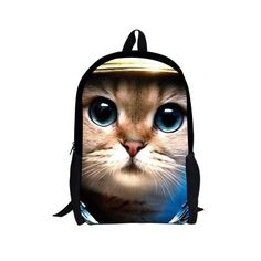 Cute Women Backpacks 3D Animal Cat Printing Kids Satchel Children Travel Bagpack Orthopedic School Bag Backpack Mochila Escolar