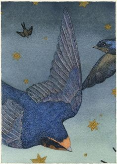 'Starry Swallows' by Carrie Wild