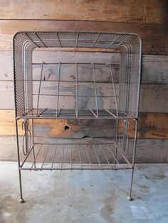 Vintage Industrial Midcentury Metal Record Album Holder Rack by PortlandRevibe on Etsy