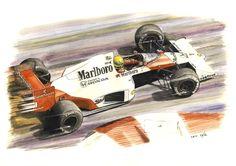 Ayrton Senna, McLaren MP4/5-Honda, 1989. by Leotrek.deviantart.com on @DeviantArt
