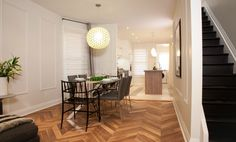 Walnut chevron floors from @Kent Wood Floors #IncomeProperty
