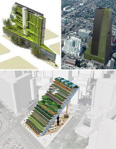 Green in 3D: 16 Vertical Farm & Skyscraper Park Designs