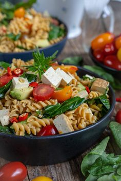 Protein Pasta Salat gesund Clean Recipes, Lunch Recipes, Roasted Eggplant Dip, Protein Pasta, Recipe Maker, Pesto Pasta, Cobb Salad, Clean Eating, Good Food