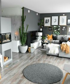 15 Modern Living Room Design Ideas to Upgrade your Home Style – My Life Spot Grey Walls Living Room, Living Room Colors, Interior Design Living Room, Living Room Designs, Grey Interior Design, Interior Livingroom, Living Room Inspiration, Design Inspiration, Design Ideas