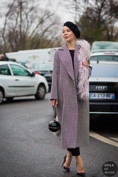 Paris Men's Fashion Week FW 2016 Street Style: Ulyana Sergeenko