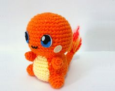 AMIGURUMI CHARMANDER - PDF Pattern Instant Download by ErinsAmigurumi on Etsy https://www.etsy.com/listing/211368492/amigurumi-charmander-pdf-pattern-instant