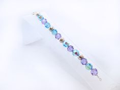 Bracelet made of Czech crystals with silver pieces. (0.950 law)