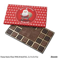 Funny Santa Claus With A Sack Full Of Gifts Assorted Chocolates