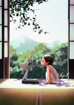 Art Anime Fille, Anime Art Girl, Illustration Mignonne, Cute Illustration, Art Mignon, Wow Art, Digital Art Girl, Cartoon Art Styles, Summer Art