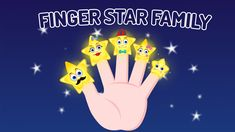 Come on! Let's meet the Stars Family, shinning bright at night!  Have fun dancing and singing a joyful kids' songs, Stars Finger Family