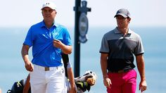 Jordan Spieth and Rory McIlroy at Whistling Straits during the 2015 PGA Championship